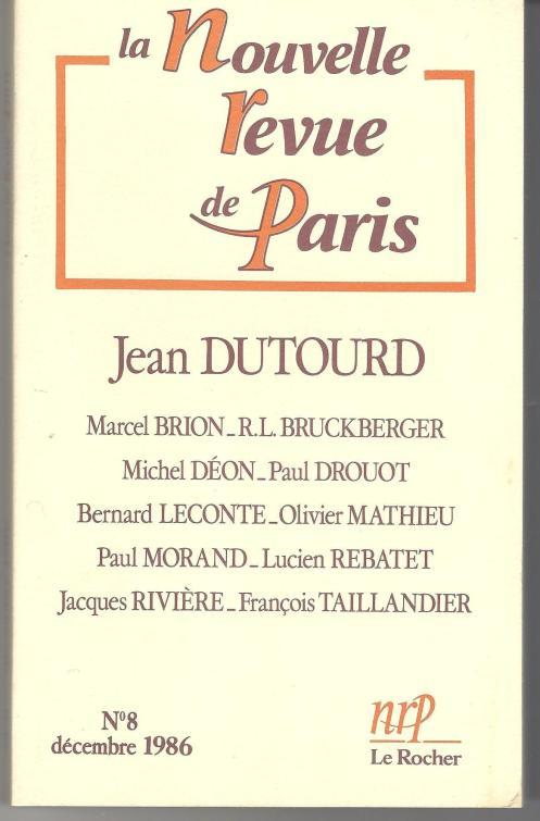 numéro 8 NOUVELLE REVUE DE PARIS