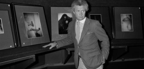 David Hamilton, le 19 novembre 1983 à l'hôtel des ventes de Drouot.
